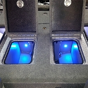 Blue Water LED Quad Beam Livewell / Cooler LED Light Pair