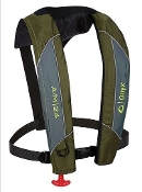 Onyx A/M-24 Automatic / Manual Inflatable Life Jacket Green/Grey