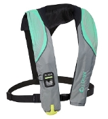 Onyx A-24 - In-Sight Automatic Inflatable Life Jacket Aqua/Grey