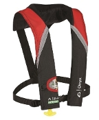 Onyx A-24 - In-Sight Automatic Inflatable Life Jacket Red/Black